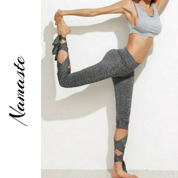 53748d7e31 Boutique Pants | Last Pair Bottom Tie Capri Yoga Workout Leggings ...